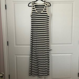 Vineyard Vines Navy Striped Tank Maxi Dress